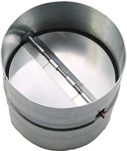 """Vent Systems 4"""" Inch Backdraft Damper - Backflow Shutter - Heavy-Duty Inline Springs Loaded - One-Way Airflow Ducting Insert - Inline Fan Vent Deflector"""