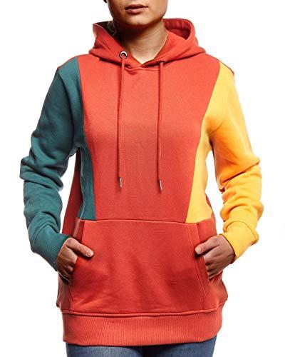 Leif Nelson dames pullover hoodie pullover met capuchon voor vrouwen bovenstuk lange mouwen sweatshirt lange mouwen slim fit LN8438