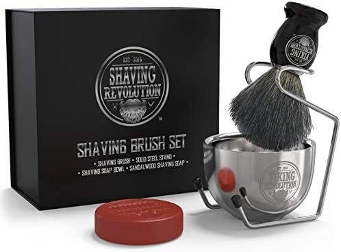 Luxury Shaving Brush Set Includes Badger Hair Shaving Brush Shaving Soap Stainless Steel Shaving product image