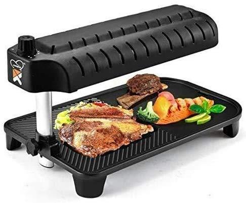 Smokefree Parrilla eléctrica 1500 de control de temperatura W del horno desmontable, dos parrilla eléctrica interna y externa