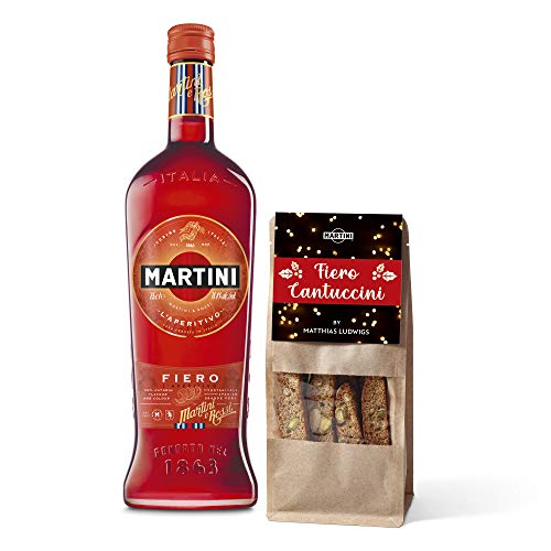 MARTINI Fiero Cantuccini Geschenkset (0,75l MARTINI Fiero + Fiero Cantuccini 160g)