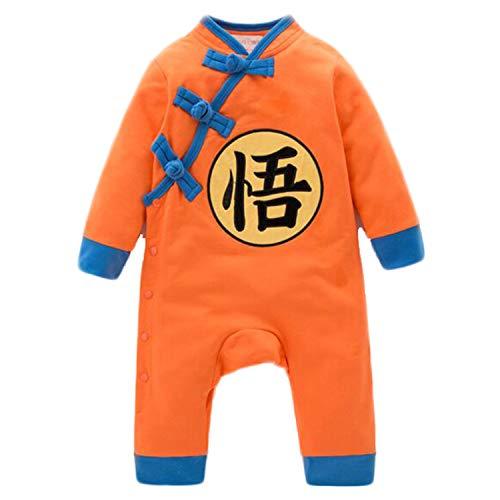 Son Goku Kostüm Baby Strampler Dragon Ball Z Design Baby Jungen Mädchen Overall Cosplay Kostüm Säugling Outfit 0-24 Monate