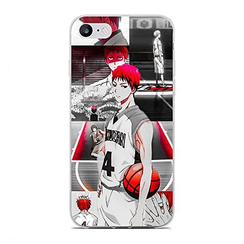NDSXTLCA Clear Case for Apple iPhone 6/6s, Tetsuya-Kuroko Basketball 0 Crystal Soft Thin Silikon Flexible Anti-Shock Coque