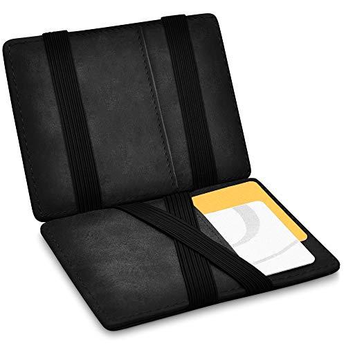 Vegas Magic Wallet - Kleiner Geldbeutel - TÜV geprüft - Dünne Geldbörse mit Münzfach - Geschenk für Herren und Damen mit Geschenkbox - Smarter Geldbeutel