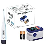 eller santé® 2in1 Combo of Fingertip Pulse Oximeter, Dual Color OLED Display Blood