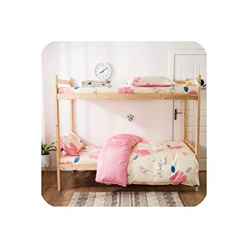 ZMHVOL Conjuntos de Ropa de Cama 100% algodón Flores Amarillas 3PCS Estudiantes Dormitorio Flat Sheet Edredones Funda WANGHN (Color : 4, Size : 1m(3.3inch) Bed)