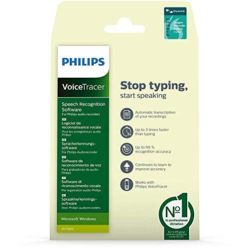 Philips Dvt2805 Voicetracer Spracherkennungssoftware für Audio Recorder für Windows