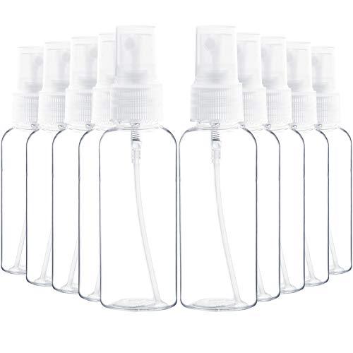 Youngever 20 Pack Plastic Spray Bottles, Refillable Plastic Spray Bottles with Lids, Clear Empty Fine Mist Plastic Mini Travel Bottles (2 Ounce)
