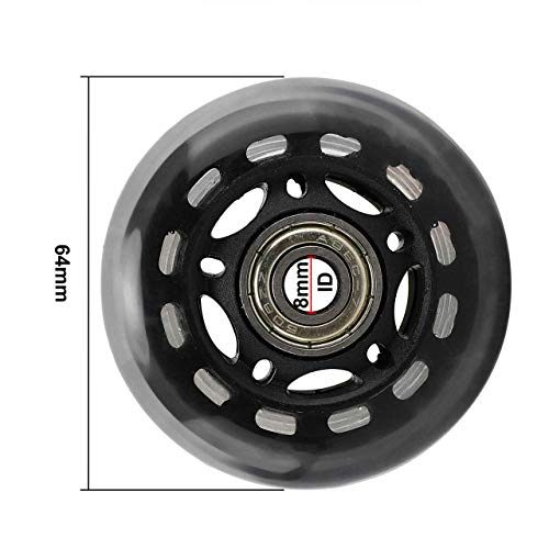 Zunbo 8pcs Replacement Roller Wheels for Skating Accessories, 64 x 24 mm