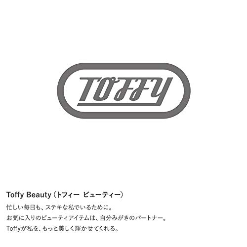ToffyBeautyトフィービューティー2wayフェイスブラシホワイトTB04-FB-WH