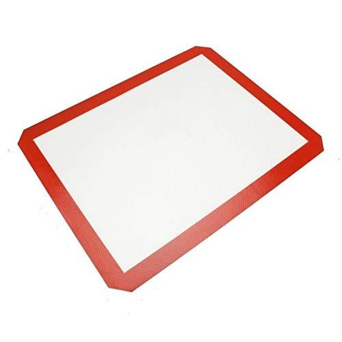 XGQ Hoja de Platino Fibra de Vidrio de Silicona Torta de los Pasteles hornada de la Galleta cojín de la Estera de amasamiento Mat, Tamaño: 40x30cm
