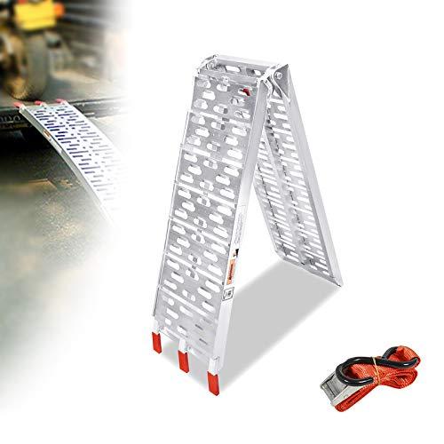 LZQ - Rampa plegable de aluminio de 340 kg / 750LBS rampa plegable de aluminio 680 kg / 1500 LBS carga carga / par de rampas de carga (1 pieza tipo A)