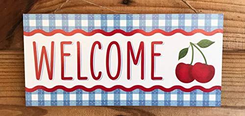 Ced454sy Welcome Sign krans bord krans centrum krans blanco krans benodigdheden ambachtelijke benodigdheden GEEN krans verfraaiing zomer teken kleurrijk welkom