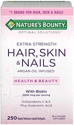 Nature s Bounty Extra Strength Hair Skin Nails 5000mcg of Biotin 250 Count product image