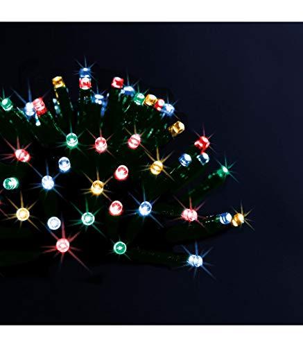 Déco Noël - Guirlande lumineuse solaire 200 LED, 20 m de lumière - Extérieur et Intérieur - Coloris MULTICOLORE