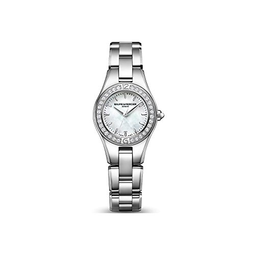 Baume and Mercier Linea レディースクォーツ腕時計 MOA10013