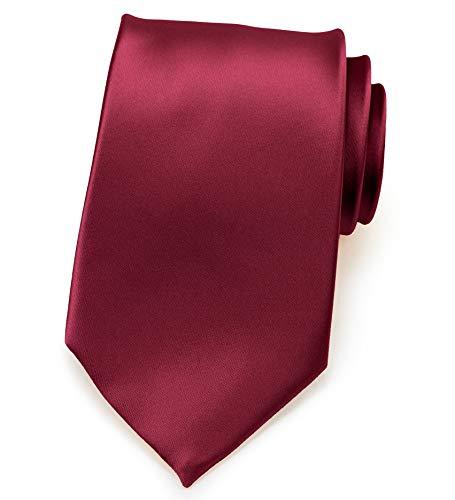 PUCCINI Herren Clip-Krawatte   vorgebunden, fertig gebundene Ansteckkrawatte   ideal als/für Sicherheitskrawatte, Security, Junggesellenschied, Homeoffice   Farbe: Bordeaux