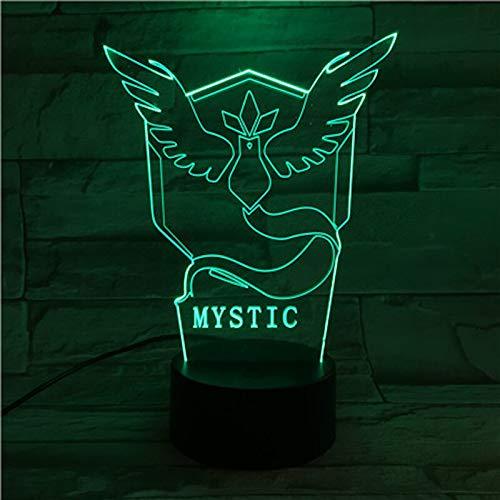Go Team Mystic Lampada da tavolo 3D Giocattolo per bambini Regalo LED Sensore Camera da letto Decorazione Lampada da notte Mistica