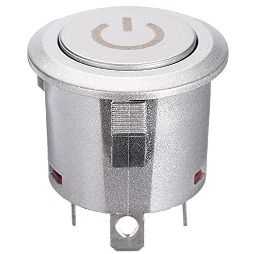 WSFANG Interruptor de Coche Botón de Encendido/Apagado del botón de Encendido/Apagado del botón de Encendido/Apagado del botón de Encendido/Apagado del botón de Encendido/Apagado Compatible con 1NO