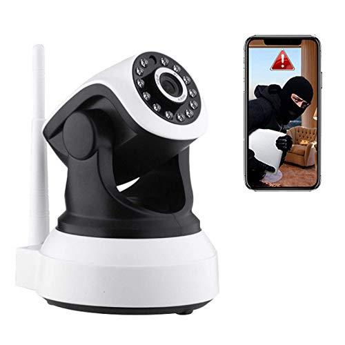 WENTING Cámara HD 1080P Cámara para el hogar WiFi Inalámbrico Vigilancia de Seguridad Interior Cámara PTZ Soporte Alarma de Movimiento, Control de aplicación, Audio bidireccional, Visión Nocturna