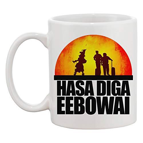African Mormon Hasa Diga Eebowai Weiße Tasse Kaffee Tee Männer Frauen Keramik Coffee Tea Mug Cup