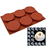 YUX Dos moldes de panadería - cilíndrico - Modelo de impresión de café - para la fabricación de Pasteles, Hielo y Silicona de Chocolate - Espesor. - 1058