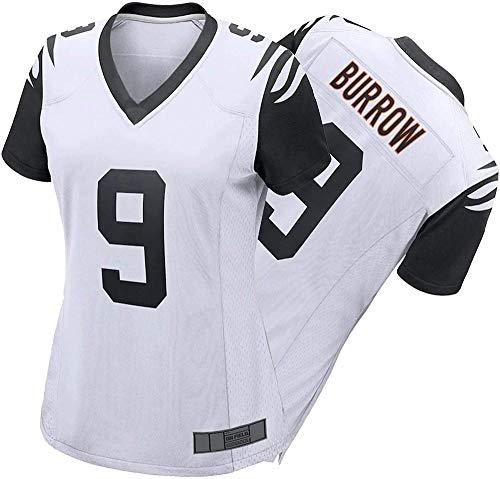CLQ Camiseta-Camiseta de fútbol para Mujer Jǒě Bǔrrǒw - Camiseta de Atleta para Adultos Camiseta de Primera Ronda del Draft Pick Game / 9#-Jersey Alternativo_Pequeña