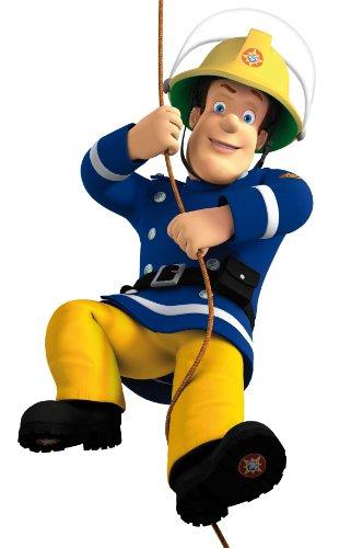 Fireman Sam Swing Feuerwehrmann späht Kinder-Lieblings-Charaktere 35cm Wandtattoo, Vinyl, Motiv: Wandkunst, Customise4U™ (350mm)