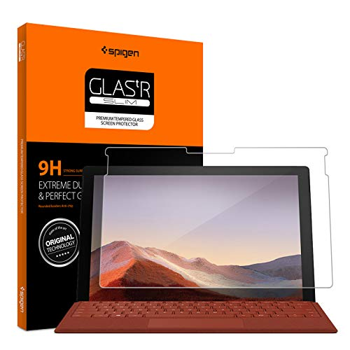 Spigen Tempered Glass Screen Protector Designed for Surface Pro 7 (12.3 inch / 2019) [9H Hardness/Case-Friendly]