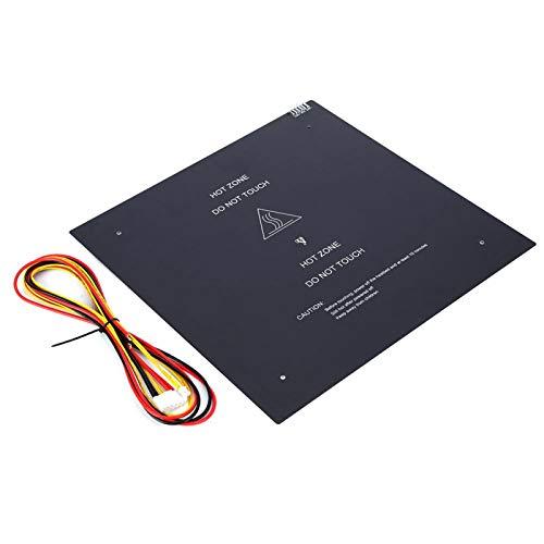Plataforma de impresora 3D de 24V 220W Cama de sustrato de aluminio Placa de vidrio templado 310x310mm Accesorio de impresora 3D para impresora 3D para la serie MKS Gen
