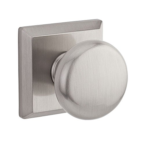 Baldwin HDROUTSR150 Reserve Half Dummy Round with Traditional Square Rose in Satin Nickel Finish by Baldwin
