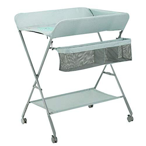 JINYANG JY Wickeltisch Neugeborenes Wickelkommode Touch-Tisch Multifunktionale Massagetisch Klapp Einstellbare Universalrad