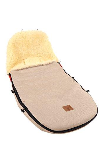 Kaiser 6512074 Kinderwagenfußsack passend für Bugaboo und Joolz, sand melange
