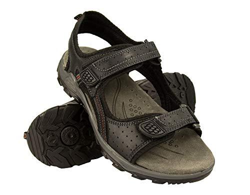 Zerimar Calzado Hombre Trekking | Sandalias Trekking | Sandalias Hombre Verano| Sandalias Cuero | Sandalias Senderismo Hombre | Color: Negro Talla 44
