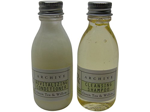 Archive Green Tea & Willow Cleansing Shampoo and Conditioner lot of 12 Bottles 6 of Each 1.5oz Bottles. Total of 18oz