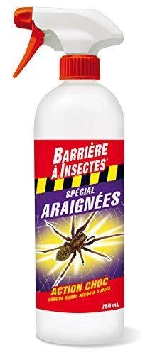 BARRIERE A INSECTES Pulvérisateur Spécial Araignées, Prêt à l'emploi, jusqu'à 3 semaines, 750 ml, BARAIGNE750