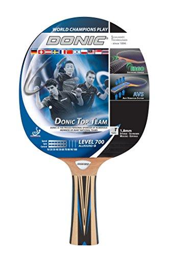 Donic-Schildkröt Tischtennisschläger Top Team 700, AVS-Griff, 1,8 mm Schwamm, Donic 3-Stern - ITTF Belag, 754197