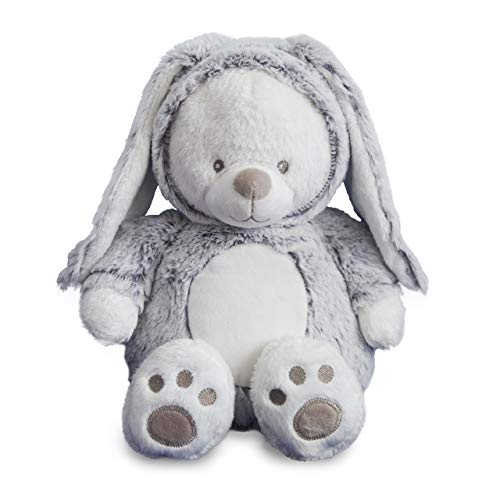 Monsterz Factory Benji Teddy Bear Bunny Rabbit- Stuffed Animal - Super Soft Teddy Bear with Pull Down Bunny Hood, 17 inches Kawaii Cute Plush Toy, Age 2+