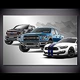 Pintura al óleo póster Pinturas Arte de la pared Serie Ford Mustang F 150 Pickup muscle Car Lienzo Imágenes de ilustraciones Carteles e impresiones Decoración moderna 60x90cm
