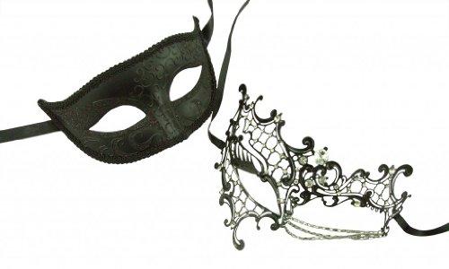 KAYSO INC Original Lover's Collection - Couple's Masquerade Mask Set, XXII