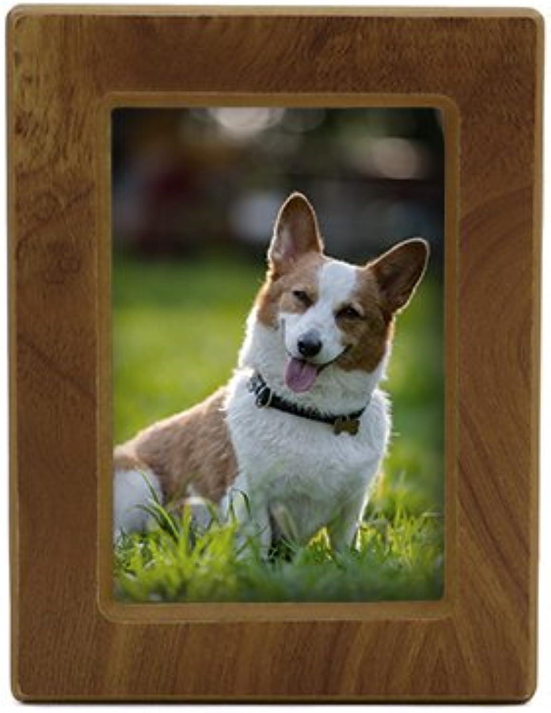 Near & Dear Pet Memorials MDF Photo Urn, 40 Cubic Inch, Natural Finish