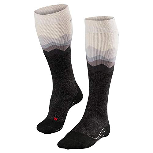 FALKE Damen Skisocken SK2 Crest - Merinowollmischung, 1 Paar, Weiß (Woolwhite 2060), Größe: 35-36