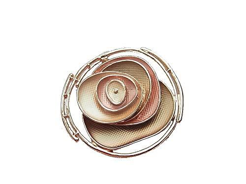 Brosche Magnetbrosche Schal Clip Bekleidung Poncho Taschen Stiefel Textilschmuck Rose Blume Rosegold