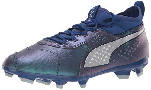 PUMA Men's ONE 3 LTH FG Soccer Shoe, Sodalite Blue Silver-Peacoat, 10.5 M US