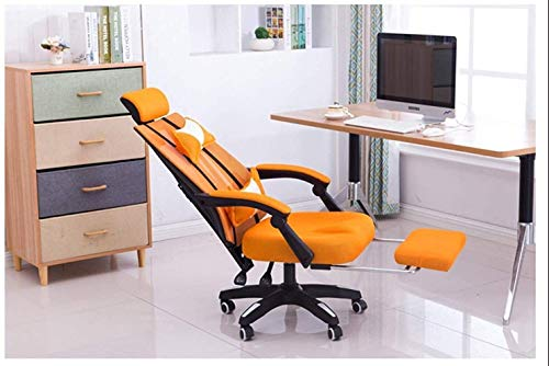 Armchairs GSN Gaming Racing Style Office Chair, High-Back Executive Chair PC Computer Desk Chair Lumbar Massage Support Footrest Ergonomic Padded Office Chair (Size : Orange)
