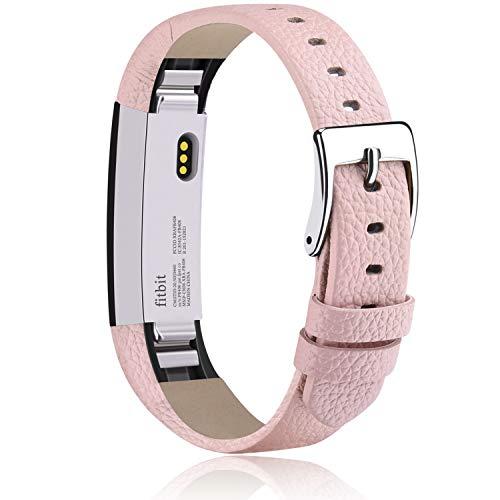 Vancle Compatible con Fitbit Alta HR y Fitbit Alta, correa de piel suave de repuesto para Fitbit Alta / Fitbit Alta HR (rosa)