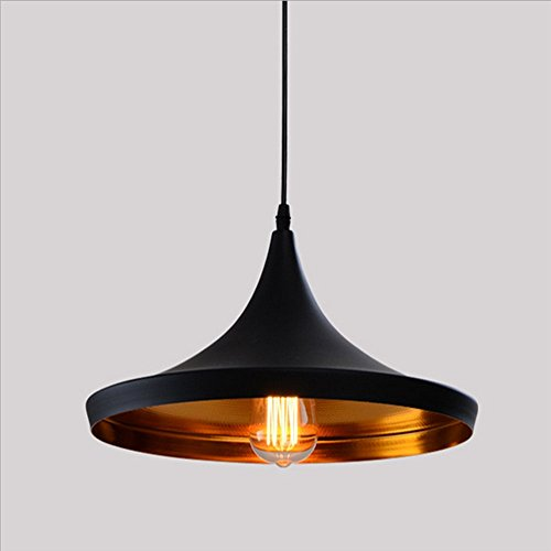 Retro Industrial Lámpara de Techo - E27 Vintage Colgante de Luz Moderna LED Metal Pantallas de Iluminación para Loft Restaurante Coffee Bar