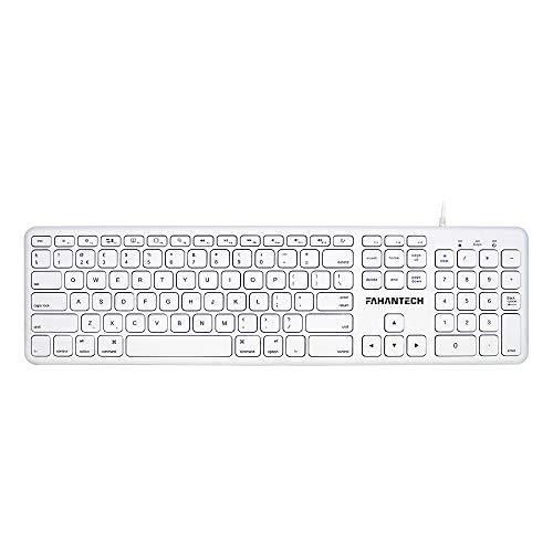 FahanTech Mac Keyboard Works with Mac iMac Mac Mini MacBook (USB)