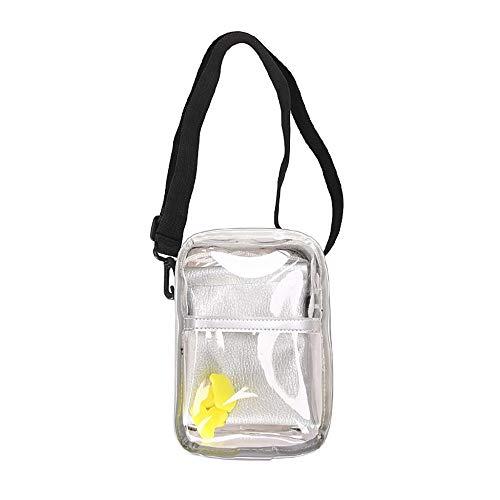 YEBIRAL Damen Transparente Tasche Kleine Umhängetasche Mode Schultertaschen Verstellbarem Crossbody Bag