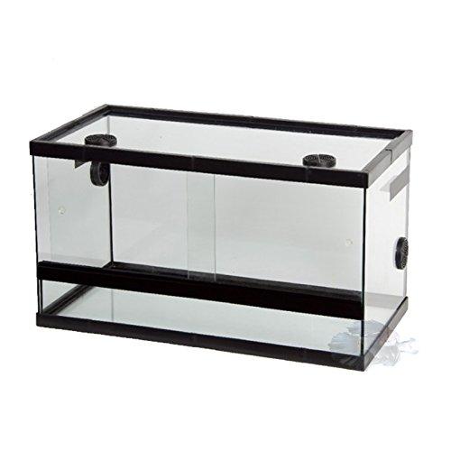 BETTASHOP.ES TERRARIO DE Cristal para Reptiles con RESPIRADEROS para Reptiles Insectos